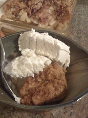 Apple crisp and Breyer's!