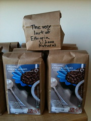 Ethiopia Sidamo, old (natural) and new (washed)