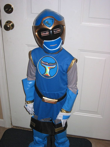 TV Boy on Halloween {Power Ranger}