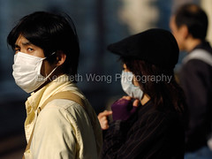 Japan 2009: Masks at Metro station, Tokyo, Japan (kwongphotography) Tags: japan d2h tokyojapan capturenx2