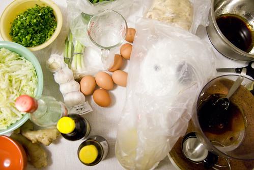 ingredients for dumplings