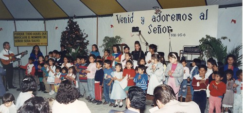 1992 Christmas at the tent