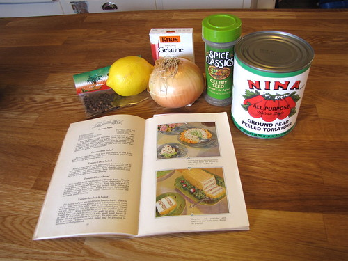 Ingredients for tomato aspic