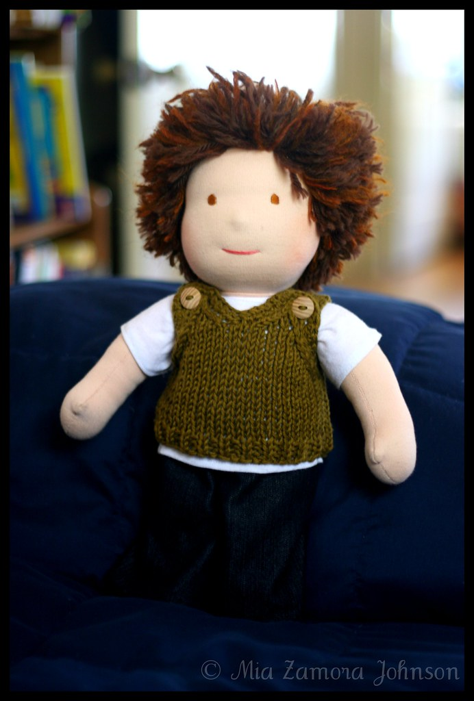 S's doll's sweater vest