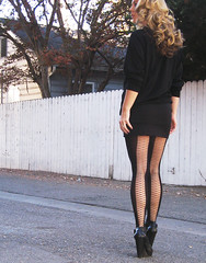 chanelsunglasses blackonblack oversizedsweater silverchains allblackoutfit givenchytights wedgebooties