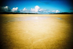 High Season... (Trapac) Tags: uk blue summer film beach water clouds scotland xpro crossprocessed sand kodak lewis slidefilm plasticfantastic 100 elitechrome vivi vivitar vignette uig plasticcamera isleoflewis tideout outerhebrides 100iso kodakelitechrome wmh eb3 kodakeb3 naheileanansiar vivitarultrawideslim traighuig vivitarultrawideandslim ardroilsands ardroil thewesternisles uigbay vivitarws vivitarroll40 eadardhfhadhail gtyap2211