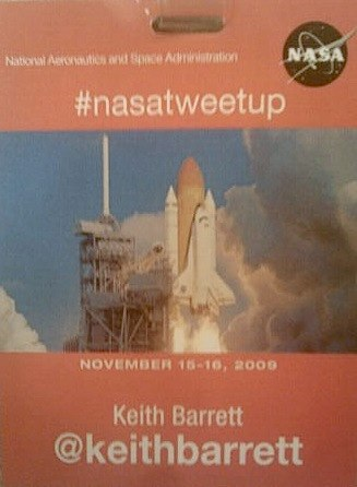 NASA Tweetup credentials