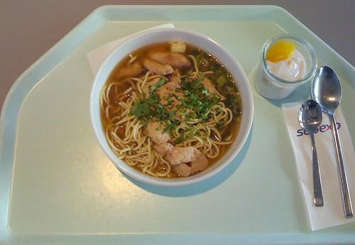 Asiatische Hühner-Nudelsuppe