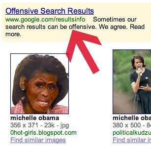 Google Ad for Michelle Obama Image