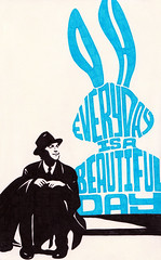 Elwood P. Dowd (Lee Crutchley | Quoteskine) Tags: rabbit art moleskine beauty typography design lyrics sketchbook quotes harvey type pens songs handdrawn jamesstewart felttip elwoodpdowd quoteskine