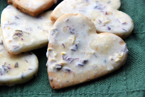 Iced Lavendar Lemon Cookies