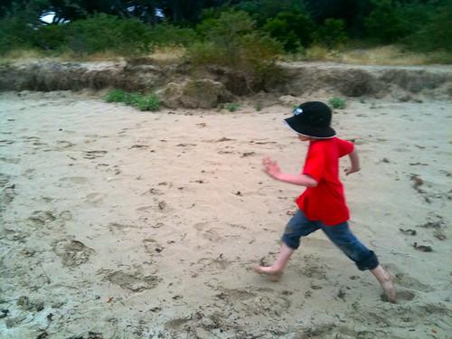 Luka. Running.