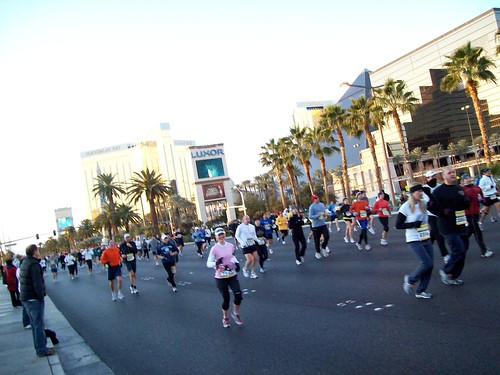 Running on The Strip, I'm in pink!
