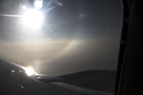 halo and subsun from a plane
