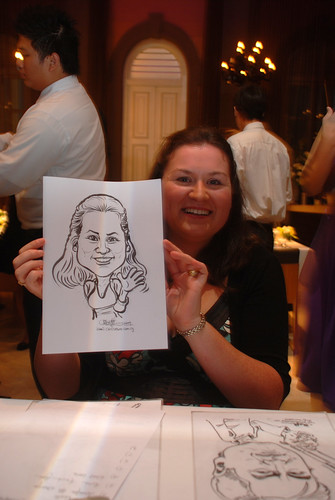 Caricature live sketching for AMEC Party - 4