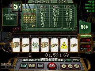 free I.R.I.S. 3000 slot bonus game