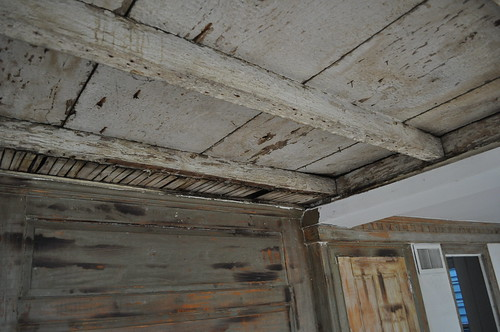lathes removed on ceiling