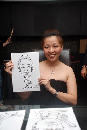Caricature live sketching for Johnson & Johnson - 6