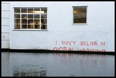Banksy - 'I don't believe in Global Warming' Closer (Romany WG) Tags: street urban london art graffiti canal stencil outsider tag banksy tags 2009 regents