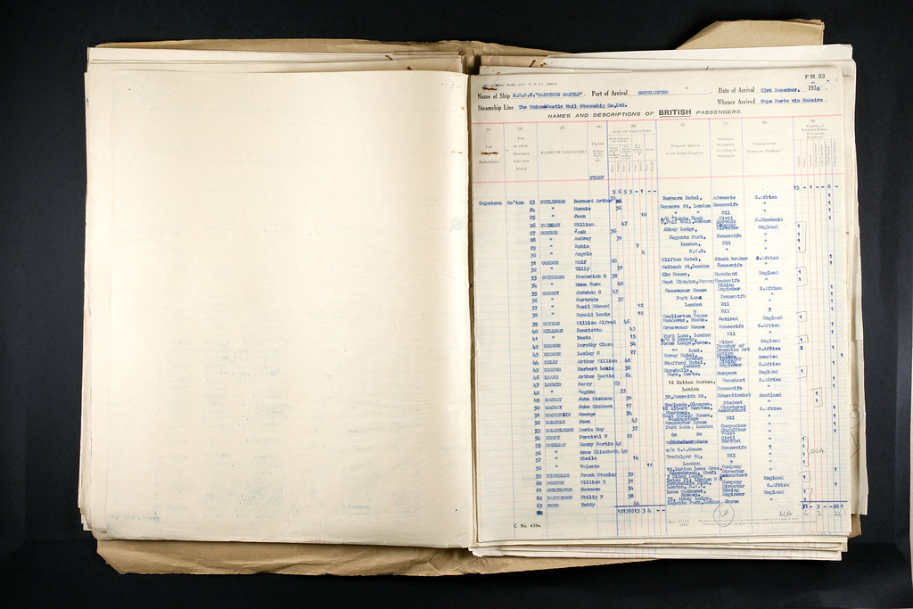 UK Incoming Passenger Lists, 1938 William A. C. Heyman