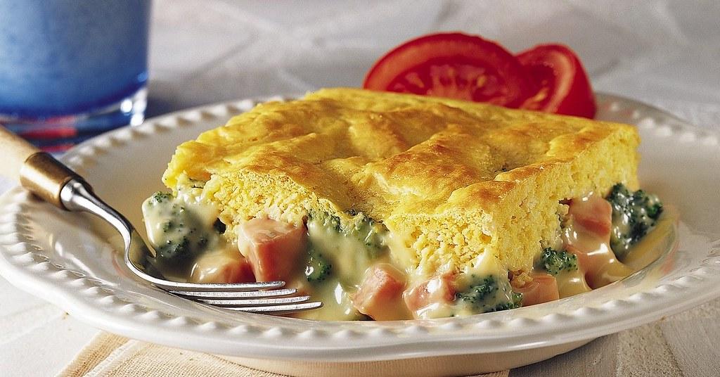 Ham and Broccoli Cheese Pot Pie Recipe