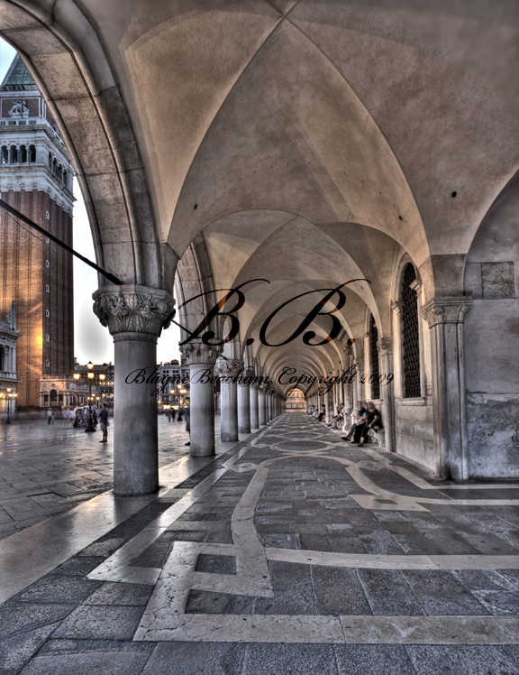 San Marco down arches