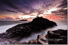 A New Decade (Matthew Stewart | Photographer) Tags: ocean sea cloud colour reflection water rock clouds sunrise rocks long exposure head border over australia nsw newsouthwales fingal 1stjan seqmdawn2010
