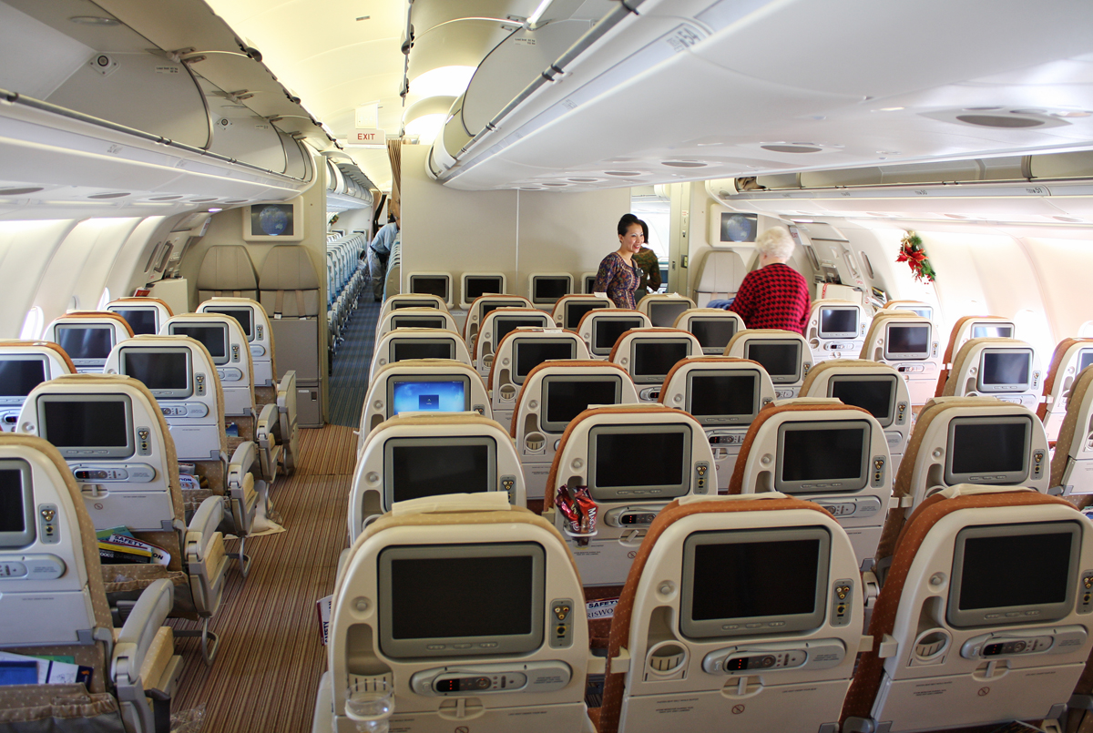 Business Flight Sq A330 300 Economy Class Cabin Photos
