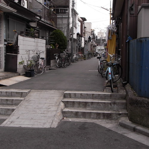 Small alley in a residential area, Higashi-nippori