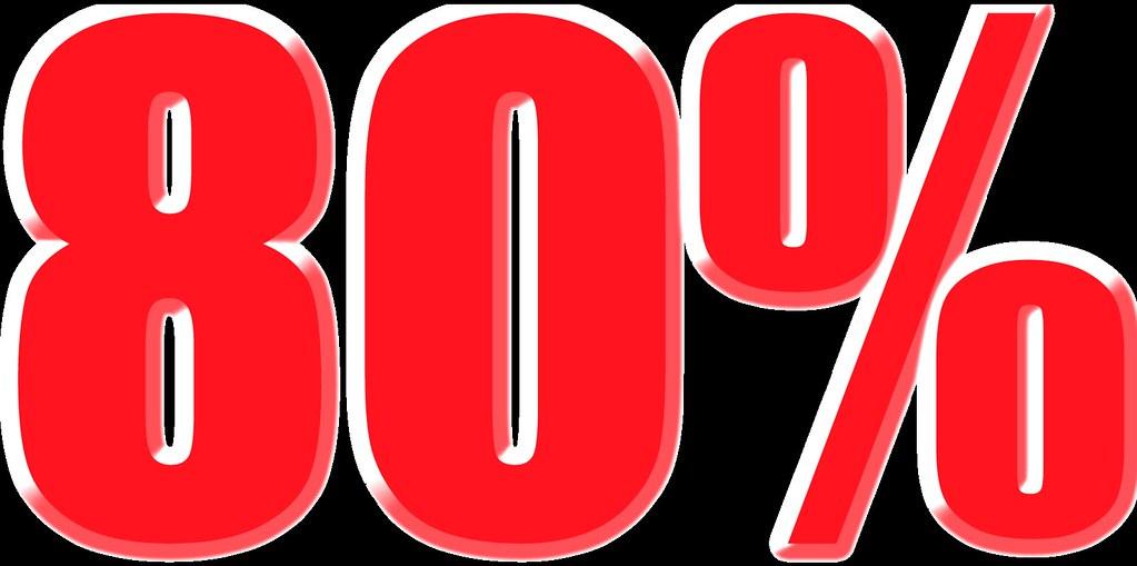 imagenes del 80% para carteles de rebajas