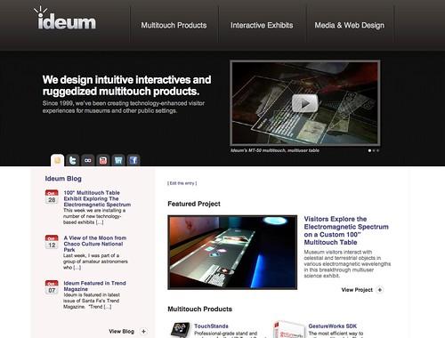 Ideum web design