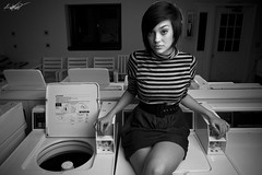 In a Laundromat Dimly Lit (Andy S. Foster) Tags: andy canon photography soft box bees alien foster machines washing dryer washer 40d
