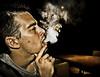 Jason lovin the smoke (jacob vago) Tags: shadow jason mouth dark table israel backyard smoke middleeast dragan nargilah raanana draganeffect exhaling sigma1020 draganizer canon40d