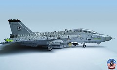 Tophatters F-14A Tomcat (3) (Mad physicist) Tags: model fighter lego aircraft military usnavy tomcat 136 ussenterprise grumman f14a tophatters