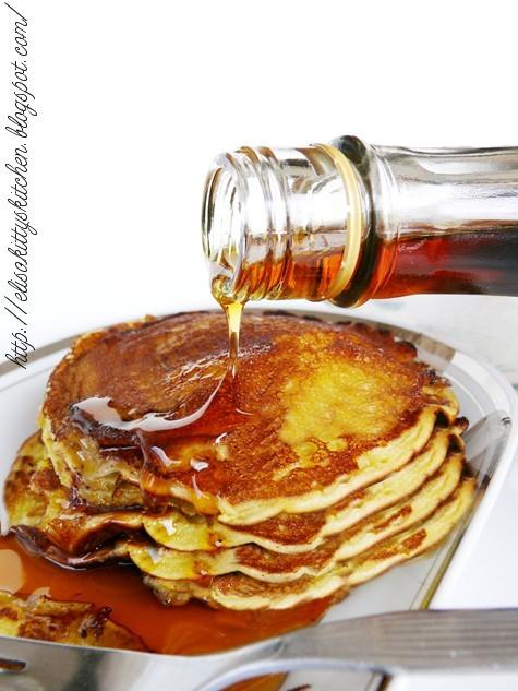 Pancake creme fraiche e sciroppo d'acero