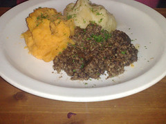 Haggis, neeps and tatties at The Compass, Leith, Edinburgh