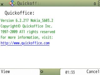 Screenshot Quickoffice 6.2.217
