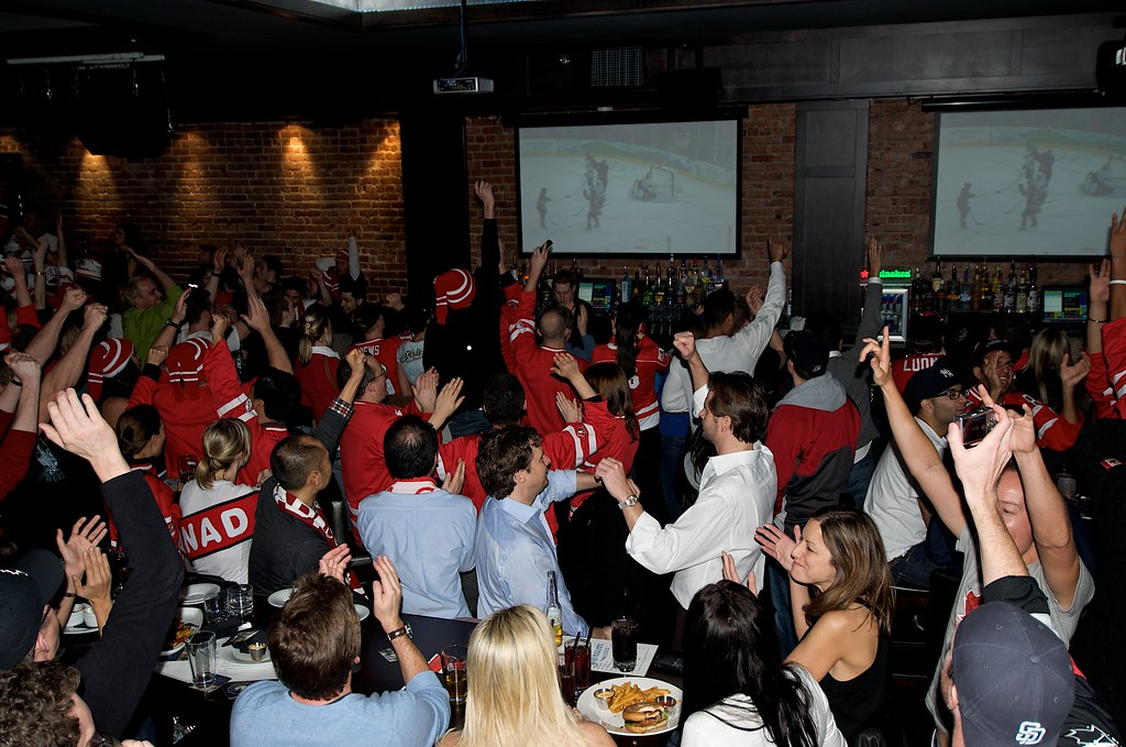 Fans Celebrate After Canada Scores