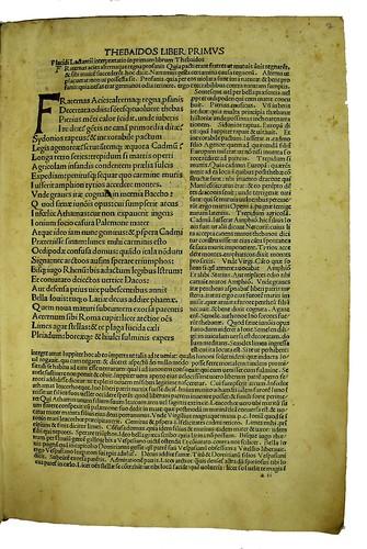 Manuscript initial in Statius, Publius Papinius: Opera