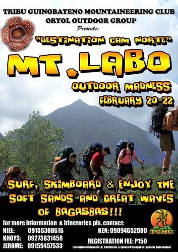 Climb Mt. Labo Cam Norte 2010