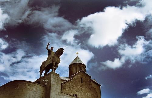 Kung Vakhtang Gorgasali och Metekhi-kyrkan
