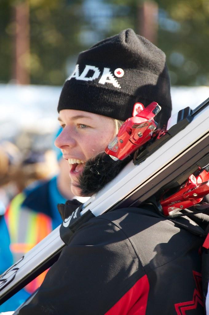 Emily Brydon at Alpine Skiing Venue