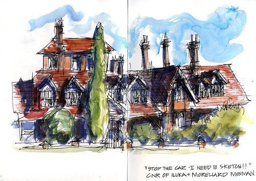 100222 Crazy sketch of The Manor