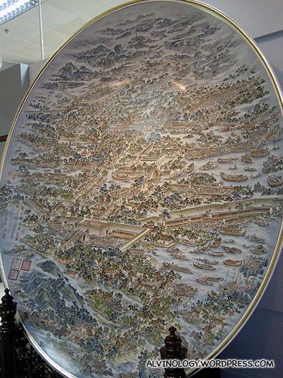Giant porcelain plate