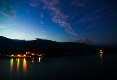 smooth operation-Tasik Raban (Lohb) Tags: longexposure travel mountain lake water night clouds canon dark landscape lights fishing exposure peace dusk wideangle bluesky tokina relaxation tone lightroom timing 500d myhometown ultrawideangle 1116 lenggong tasikraban thanksyou myfaved lohb smoothoperation evo55 naturalofmalaysia