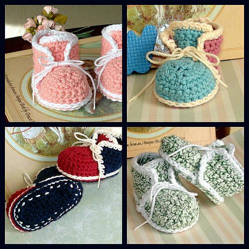 Crochet pattern high top baby booties