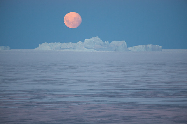 Moon on ice