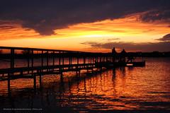 Lewesville Lake Sunset