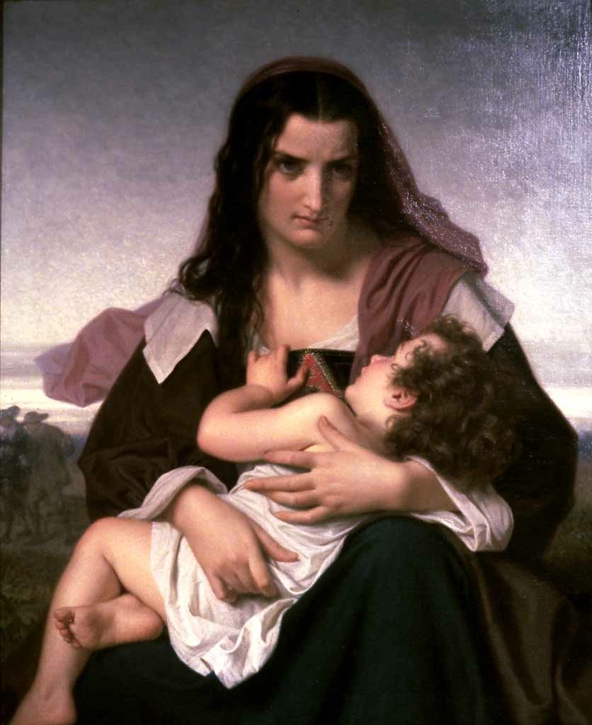 Hugues Merle (1823-1881) The Scarlet Letter (1861) Oil on canvas. 39 5/16 x 31 15/16 in. Walters Art Museum, MD, USA.