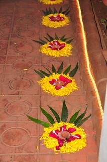 Nirmit and Nirali helped Bhabhi make these lovely decorations